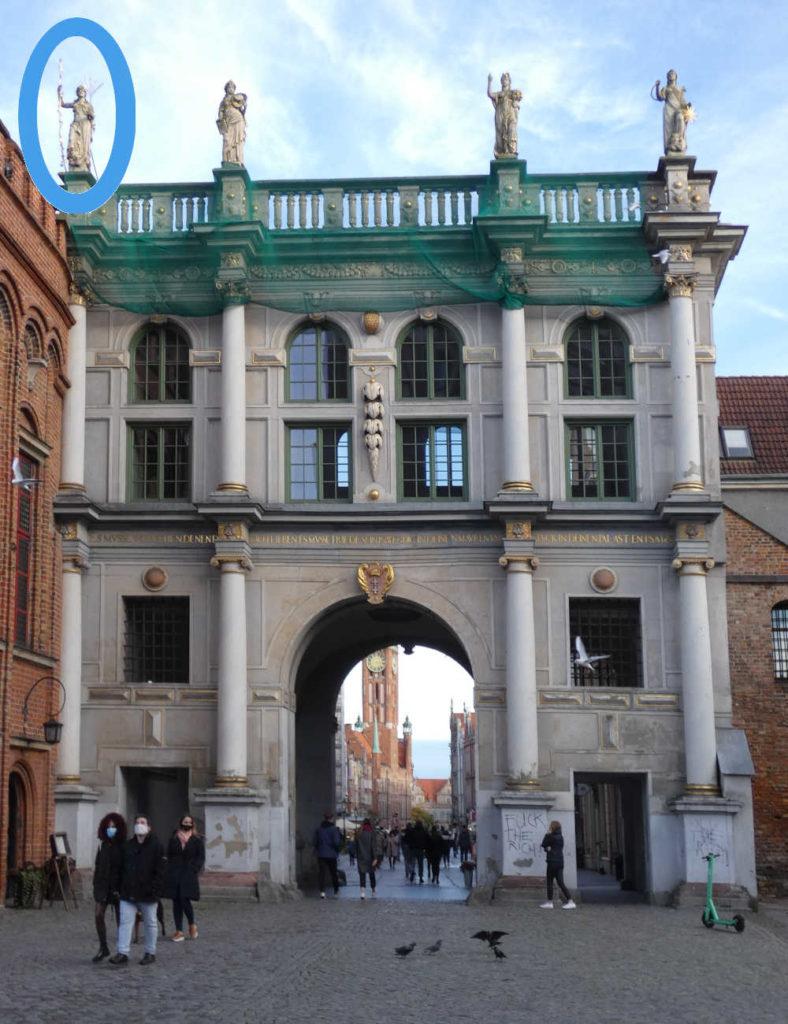 Gdańsk Złota Brama Alegoria Pokoju