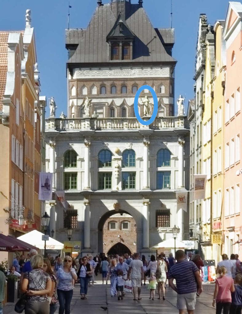 Sprawiedliwość - Iustitia - Złota Brama - Gdańsk